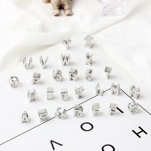Alphabet Letters Simple Style for Pandora Charm Bead Bracelet Cute Fashion